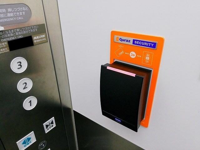 エレベーターもカードキー