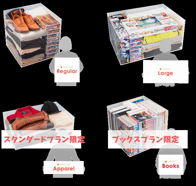 ボックスの大きさと収納例