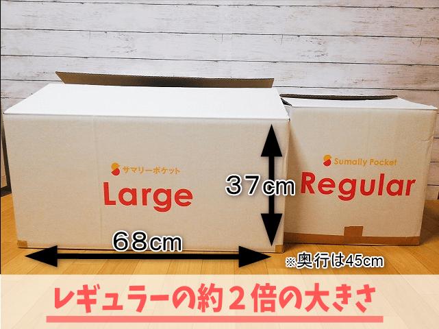 ラージBOXとレギュラーBOXの大きさ比較
